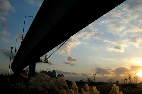 cheonggyecheon_sunset