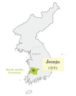 Jeonjus Hanok Village Part Discovering Korea - Jeongju map